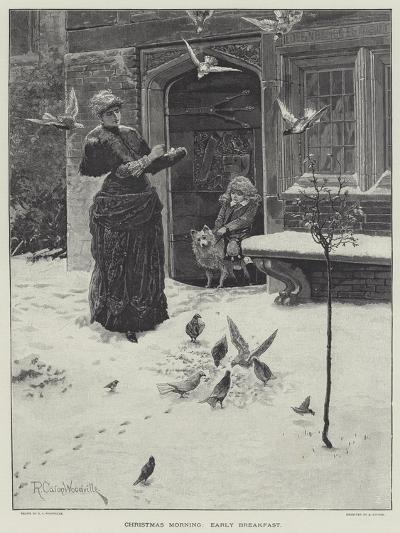 Christmas Morning, Early Breakfast-Richard Caton Woodville II-Giclee Print