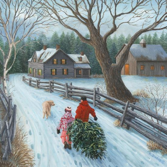 Christmas on the Farm-Kevin Dodds-Giclee Print