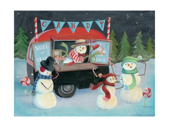 Christmas on Wheels I Light-Mary Urban-Art Print