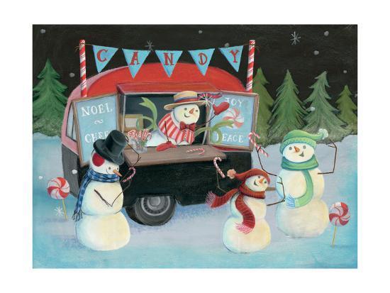 Christmas on Wheels I-Mary Urban-Art Print