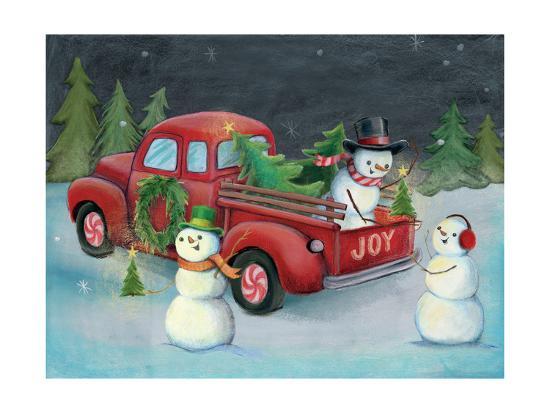 Christmas on Wheels II Light-Mary Urban-Art Print