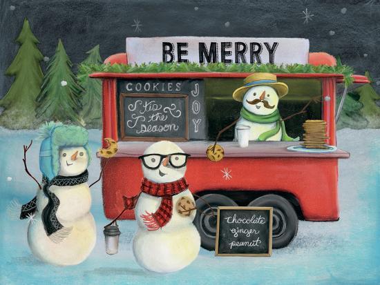 Christmas on Wheels III Light-Mary Urban-Art Print