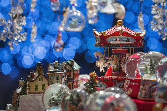 Christmas Ornaments for Sale in the Verona Christmas Market, Italy.-Jon Hicks-Photographic Print