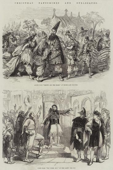 Christmas Pantomimes and Burlesques--Giclee Print