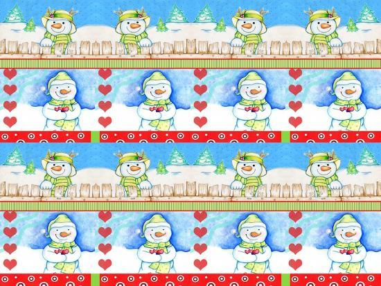 Christmas Pattern 2-Valarie Wade-Giclee Print