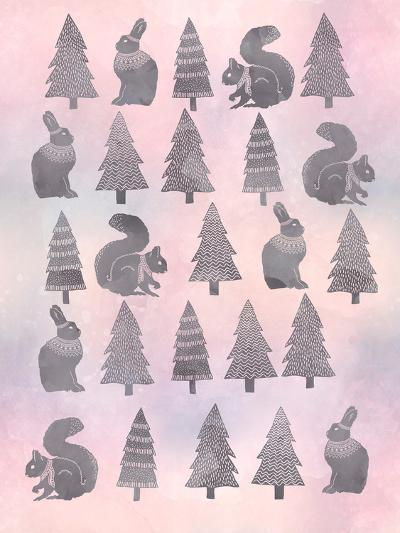 Christmas Pattern Watercolor-Lebens Art-Art Print