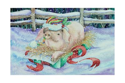 Christmas Pig-Kathleen Parr McKenna-Art Print