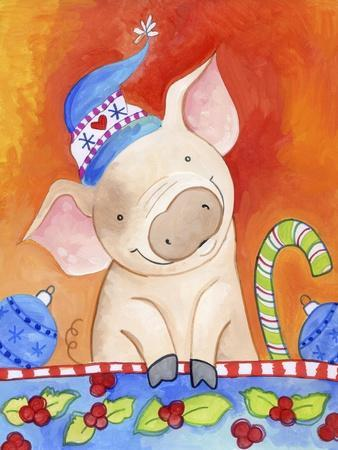 Christmas Piggie-Valarie Wade-Giclee Print
