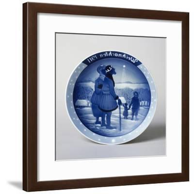 Christmas Plate, 1911, Ceramic, Rosenthal Manufacture, Selb, Bavaria, Germany--Framed Giclee Print