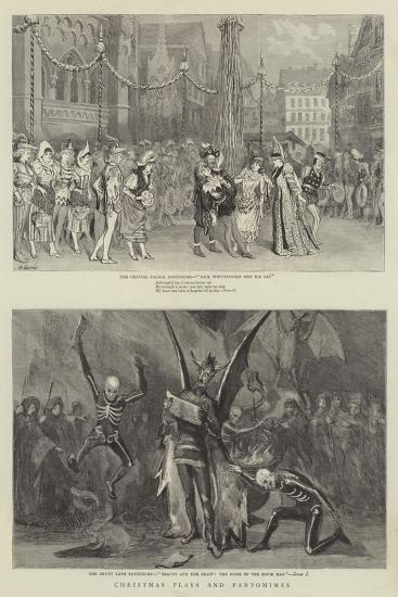 Christmas Plays and Pantomimes-Robert Barnes-Giclee Print