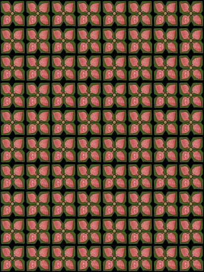 Christmas Pontsettia Repeat-Cyndi Lou-Giclee Print
