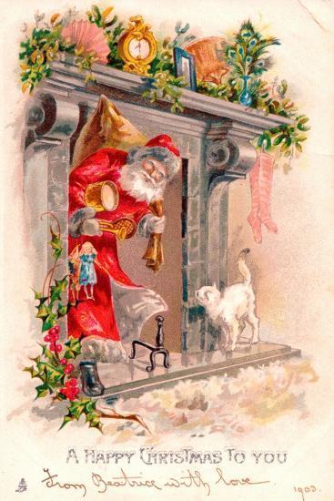 Christmas Postcard, 1903-English School-Giclee Print
