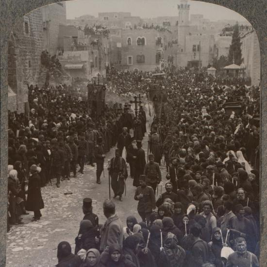 'Christmas procession in Bethlehem', c1900-Unknown-Photographic Print