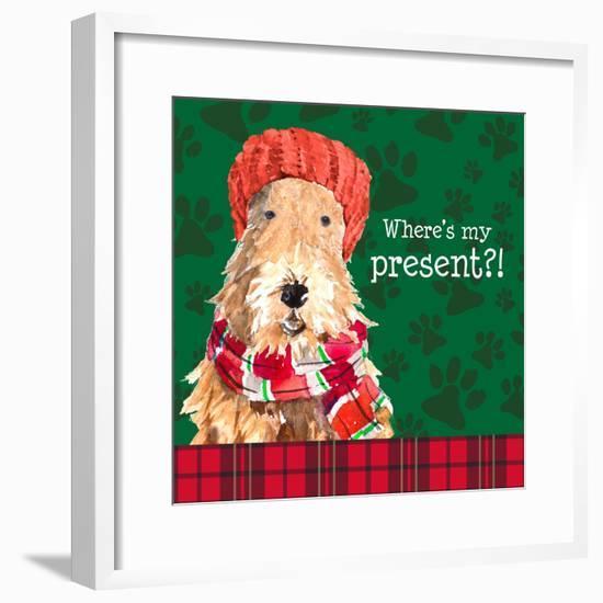 Christmas Puppy I-Lanie Loreth-Framed Art Print