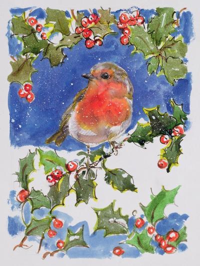 Christmas Robin, 1996-Diane Matthes-Giclee Print