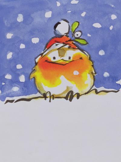 Christmas Robin-Diane Matthes-Giclee Print