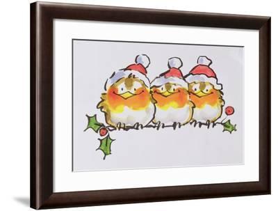 Christmas Robins-Diane Matthes-Framed Giclee Print