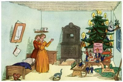 Christmas Scene from King Nutcracker by Heinrich Hoffmann, 1853--Giclee Print