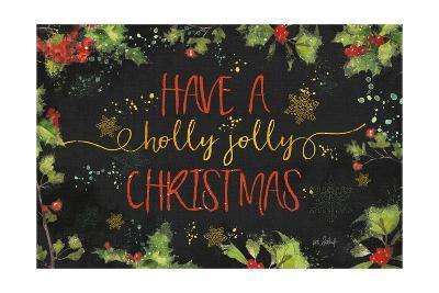 Christmas Sentiments I Black-Katie Pertiet-Art Print