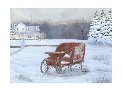 Christmas Sleigh-Julie Peterson-Art Print