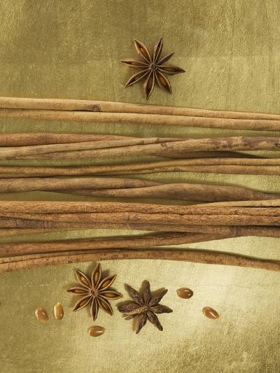 Christmas Spices (Cinnamon Sticks and Star Anise)-Achim Sass-Photographic Print