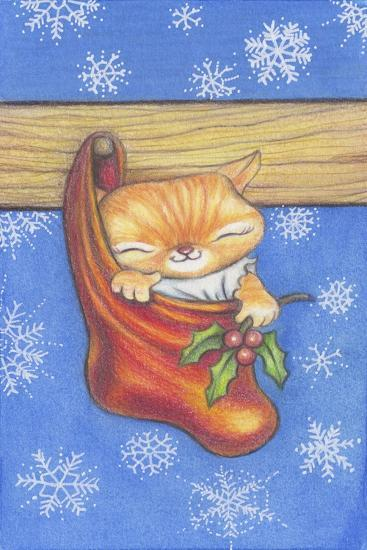 Christmas-Stocking-Kitty-Cindy Wider-Giclee Print