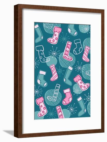 Christmas Stocking-Esther Loopstra-Framed Giclee Print