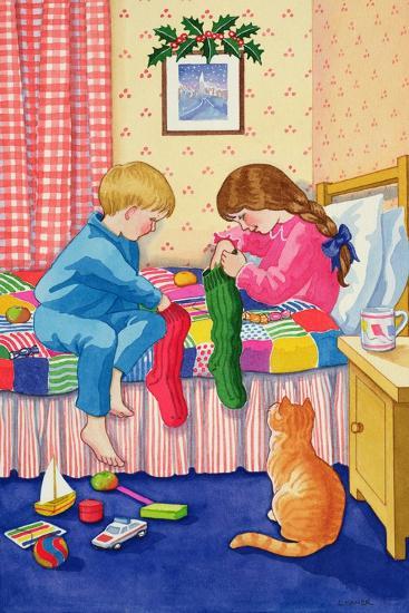 Christmas Stockings-Lavinia Hamer-Giclee Print