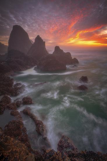 Christmas Sunset-Darren White Photography-Photographic Print