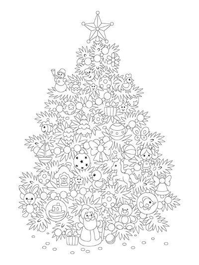 Christmas Tree Design Coloring Art--Coloring Poster