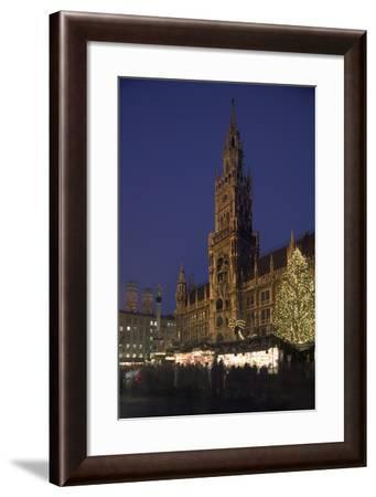 Christmas Tree in Marienplatz in Munich-Jon Hicks-Framed Photographic Print