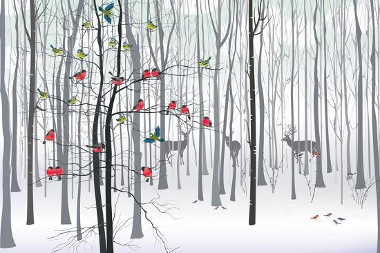 Christmas Tree in the Forest-fresher-Art Print