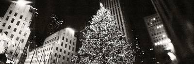 Christmas Tree Lit Up at Night, Rockefeller Center, Manhattan, New York City, New York State, USA