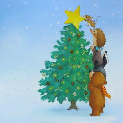 Christmas Tree Star-Advocate Art-Art Print