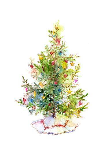 Christmas Tree with Skirt, 2016-John Keeling-Giclee Print