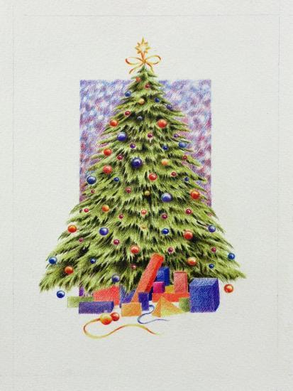 Christmas Tree--Giclee Print