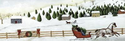 Christmas Valley Sleigh-David Carter Brown-Premium Giclee Print