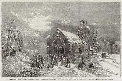 Christmas Weather, Snowballing--Giclee Print