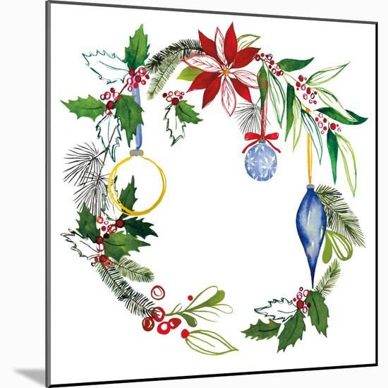Christmas Wreath V-Harriet Sussman-Mounted Art Print