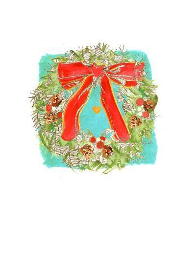 Christmas Wreath-Anna Platts-Giclee Print