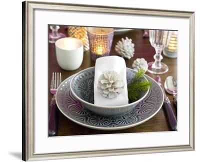 Christmassy Table Decorations-C. Nidhoff-Lang-Framed Photographic Print