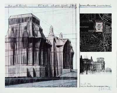 Reichstag I - Signed by Christo