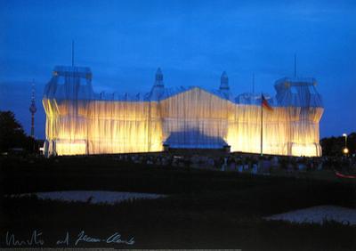 Reichstag - Vorderseite Nachts - Signed