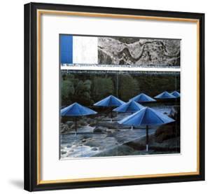 The Blue Umbrellas, 1991 by Christo