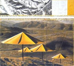 The Yellow Umbrellas, 1991 by Christo