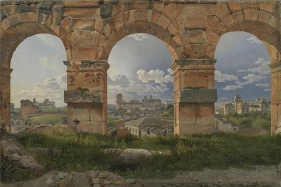 A View through Three of the North-Western Arches of the Third Storey of the Coliseum in Rome, 1815