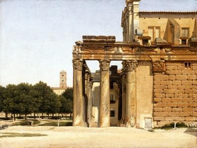View of the Via Sacra, Rome, 1814