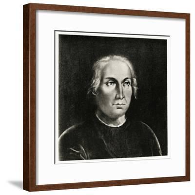 Christoph Columbus, 1884-90--Framed Giclee Print
