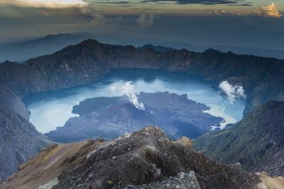 Scenery at Gunung Rinjani, the Crater Lake by Christoph Mohr