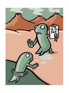 A fish patents evolution - Cartoon by Christoph Niemann